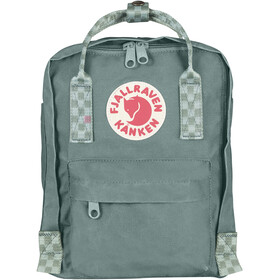 Fjällräven Kånken Mini Rucksack Kinder frost green/chess pattern